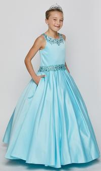 aqua Junior bridesmaid dresses