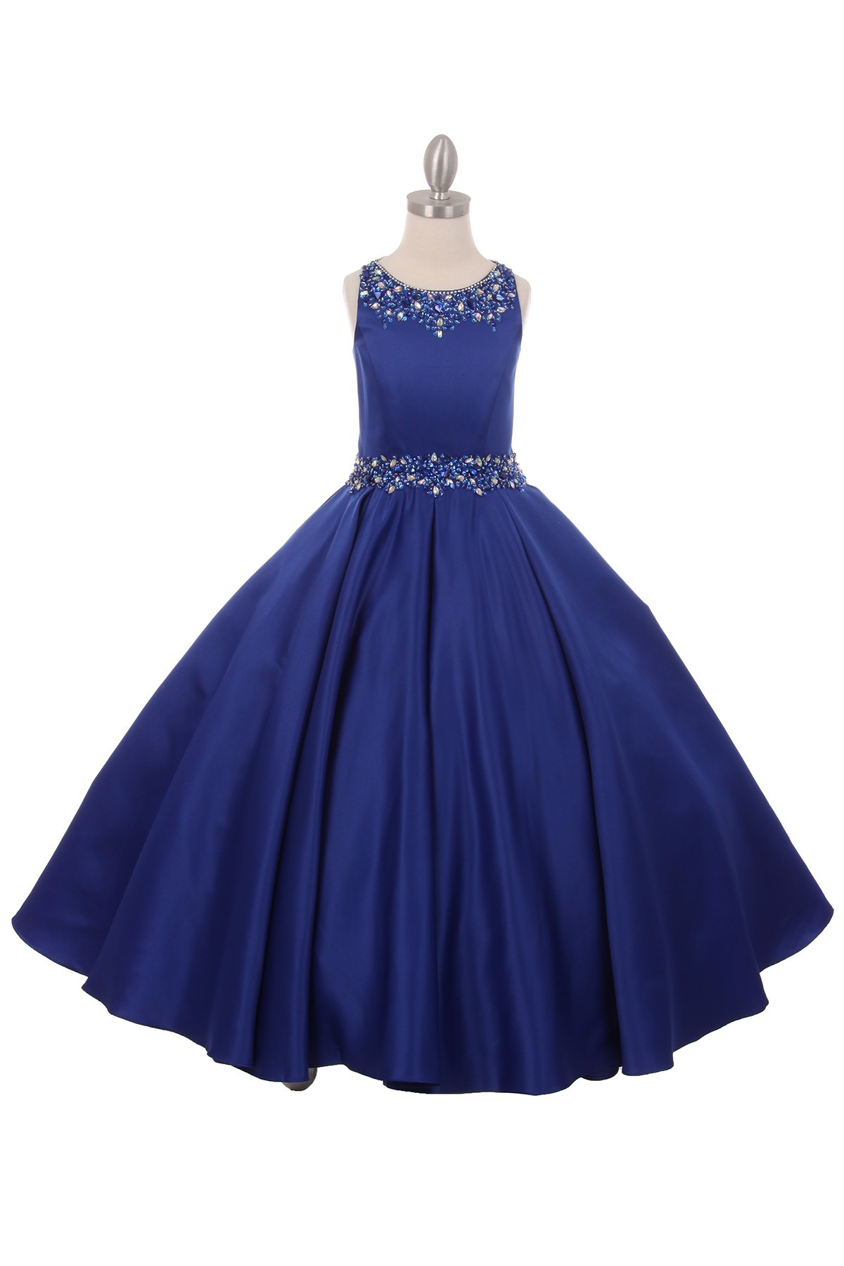 Long Elegant Formal Junior Bridesmaid Dress