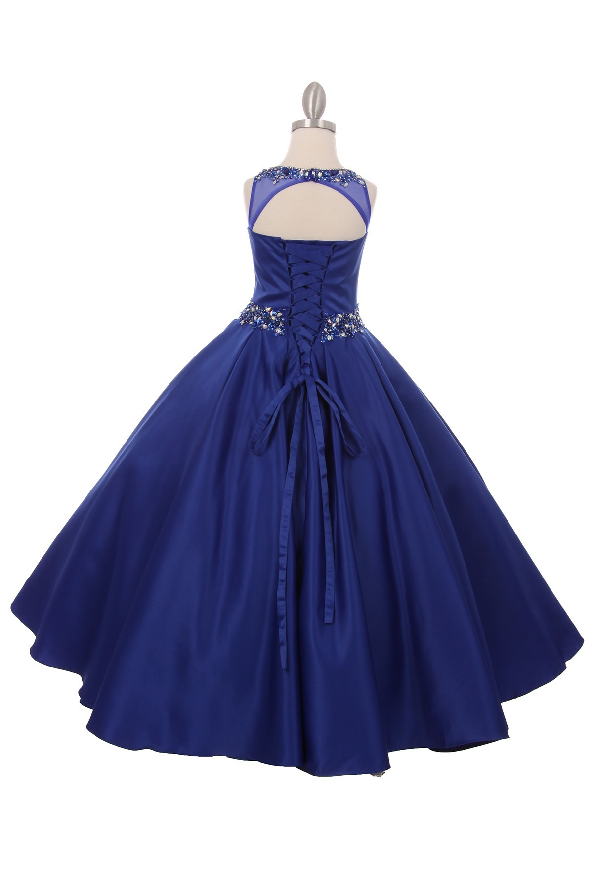 Royal Blue Long Girls Pageant Dresses