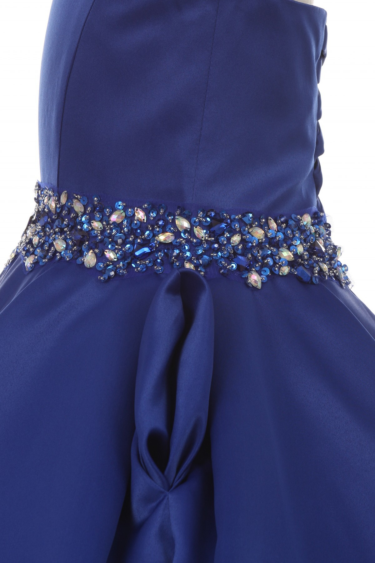 royal blue flower girls dresses with pocket