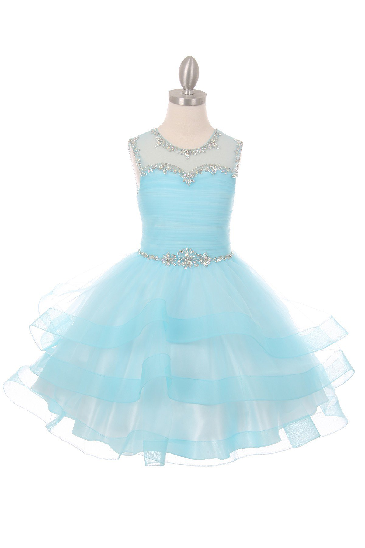 blue girls formal dress