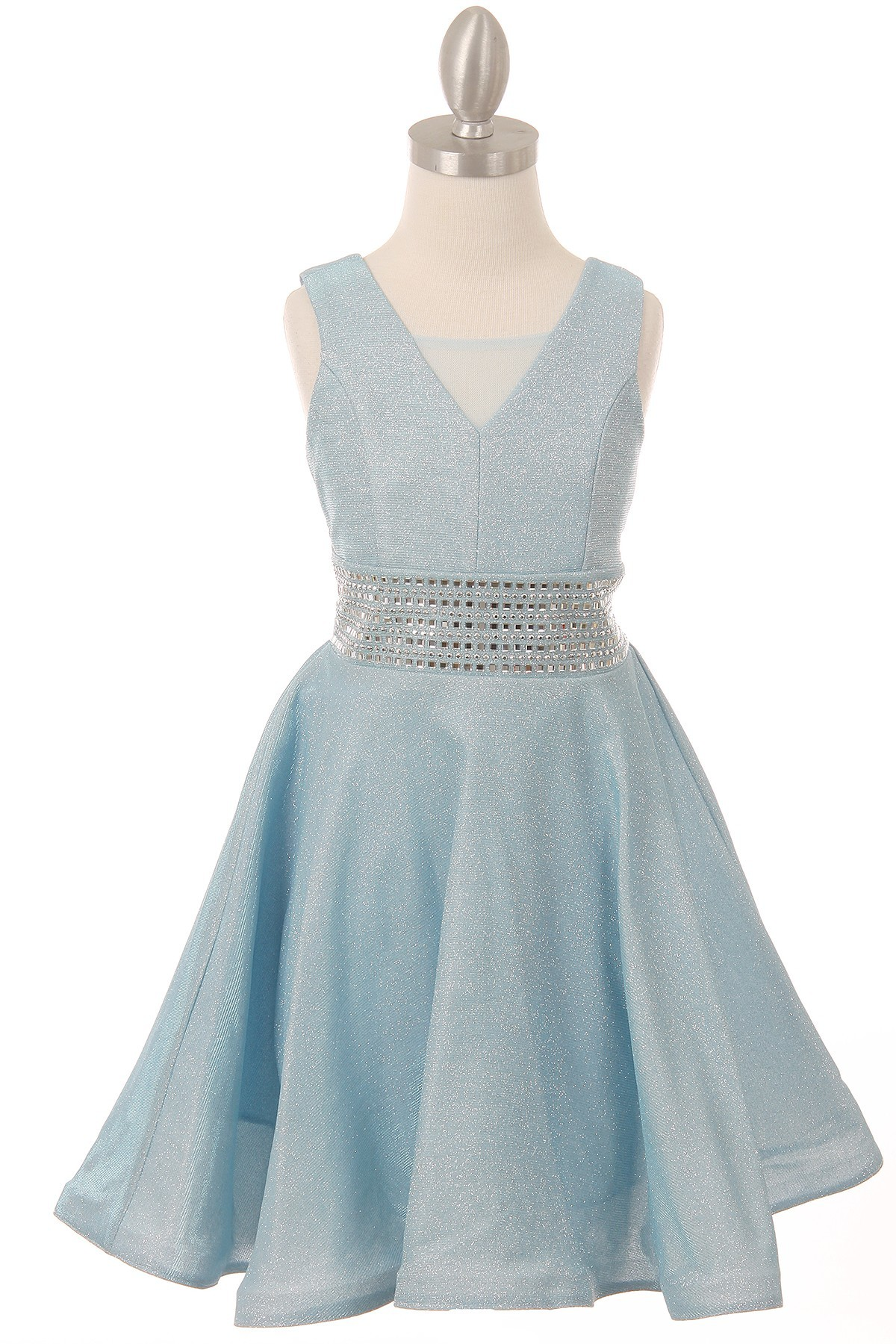 girls blue church dress