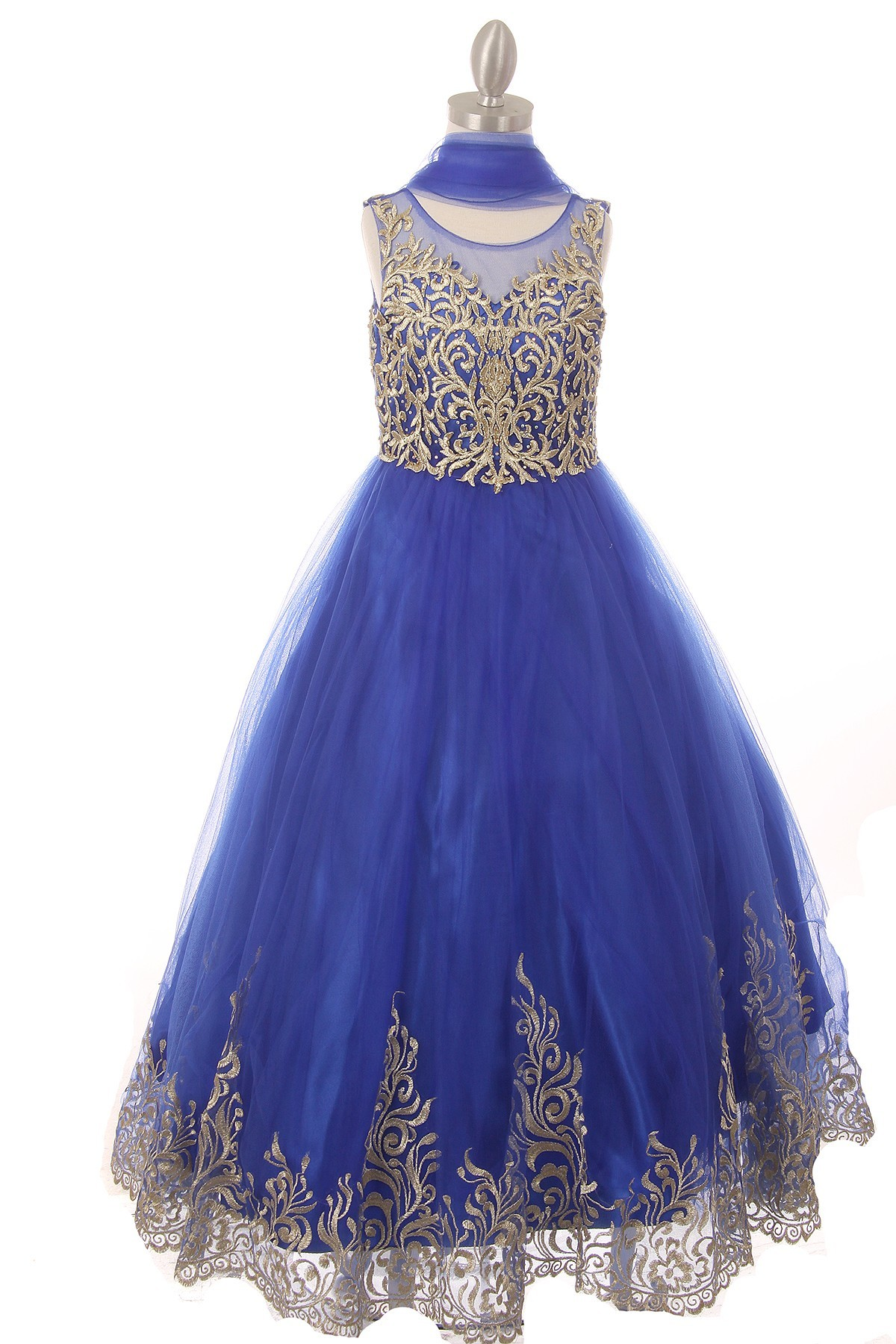 girls formal royal blue dress