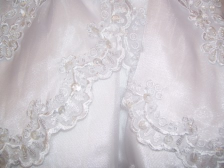 baby christening lace skirt