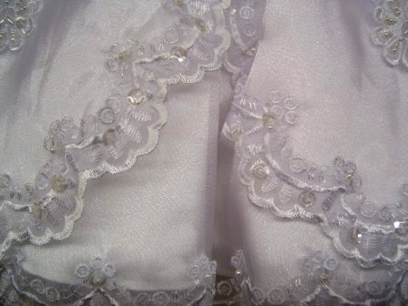 scalloped christening gown