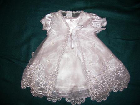 Girls Christening dress with jacket