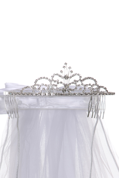 communion veil with comb