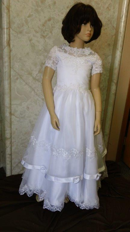 short sleeve flower girl dress
