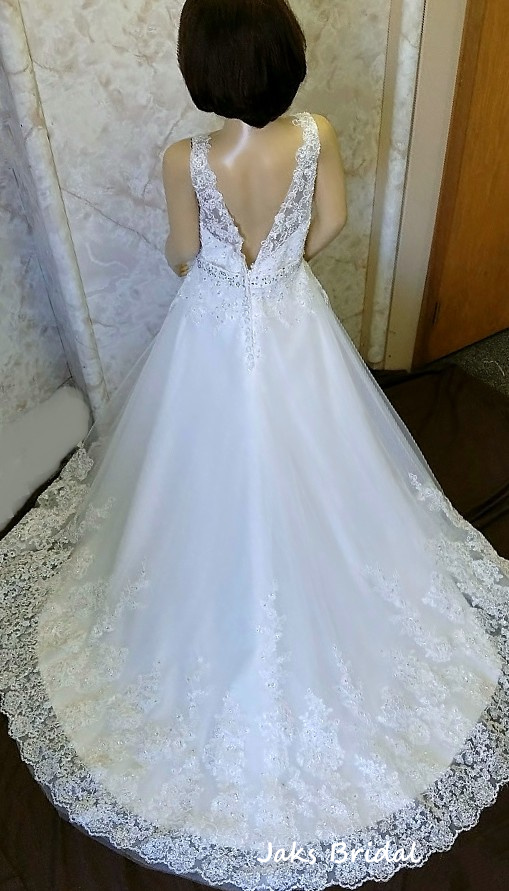 Lace miniature bride dresses