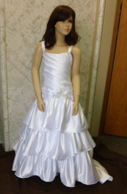 tiered ruffle flower girl dress
