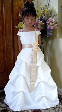 flower girl dresses with a sash