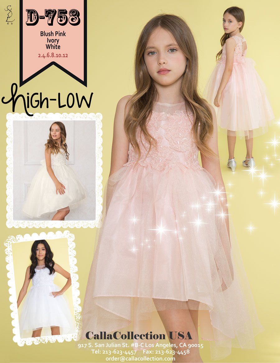 Hi-low dress with open keyhole back