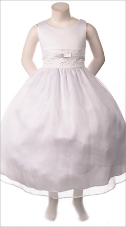 white flower girl dress sale
