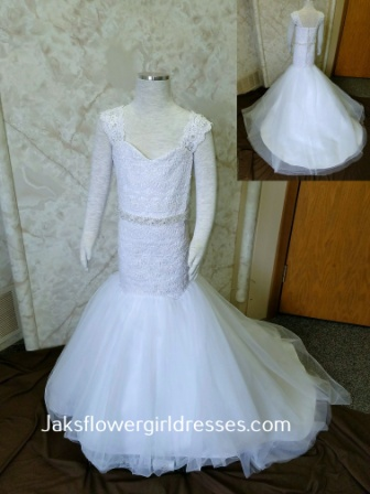 miniature wedding dress mermaid style