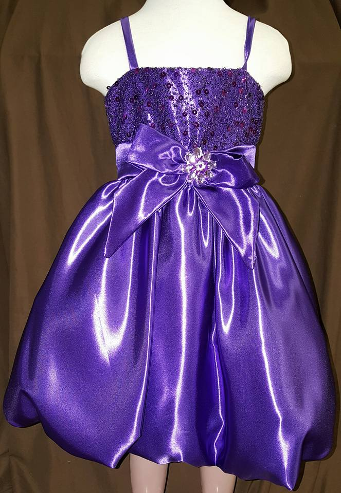 purple fancy dress