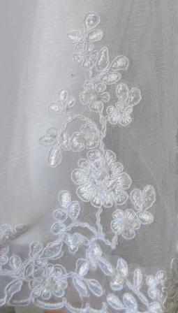 lace embroidered hem