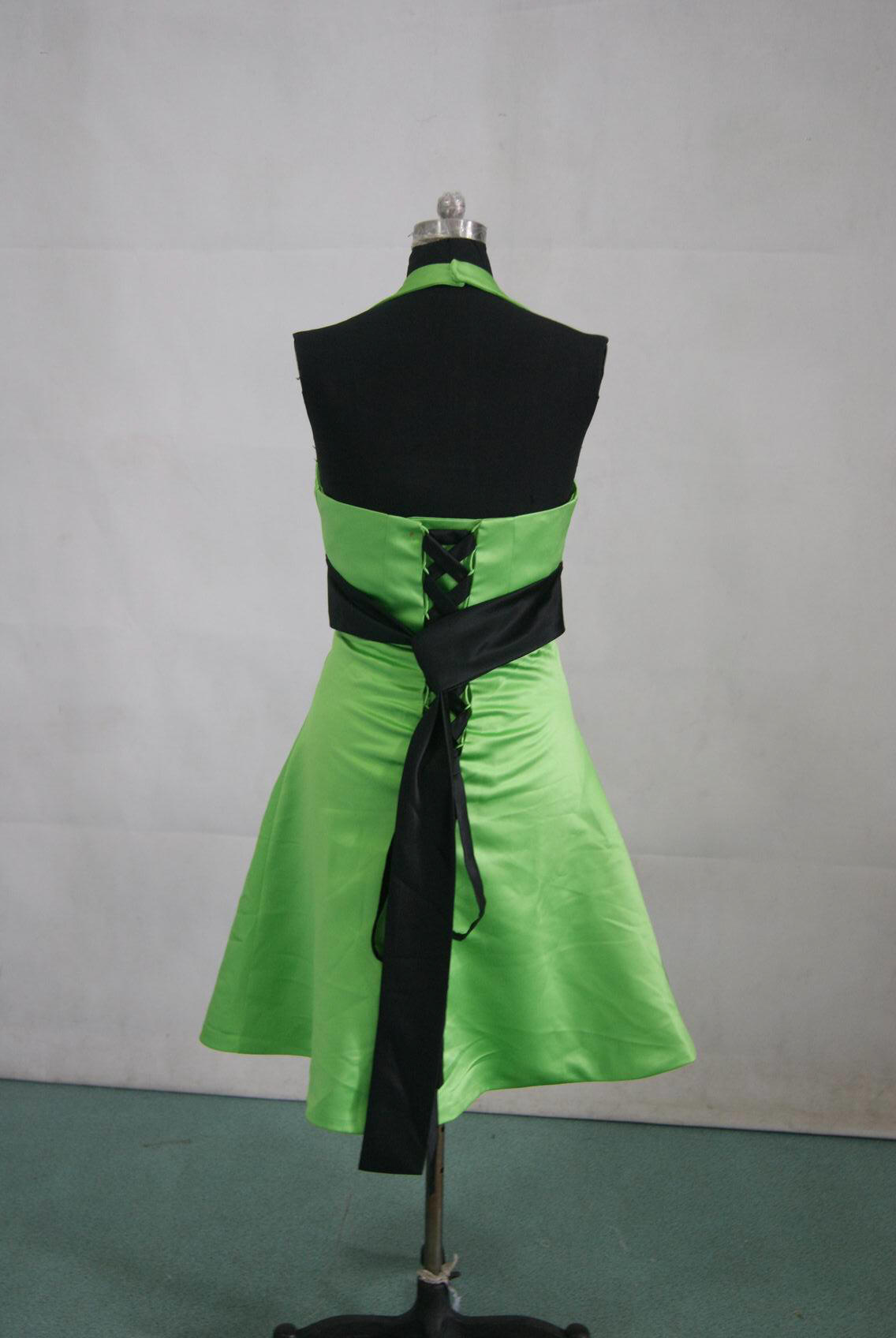 Lime green dress with black sash
