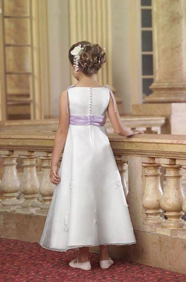 sleeveless flower girl dress