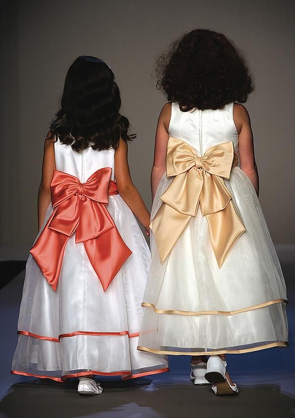 Two tone flower girl dresses