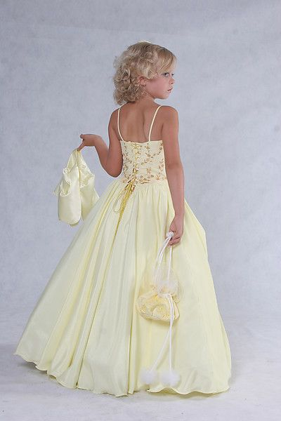Girls pageant dress with roses