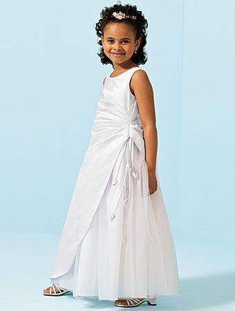 White floor length flower girl dresses
