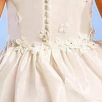 Applique Inspired Waist & Bodice Flower Girl Dress