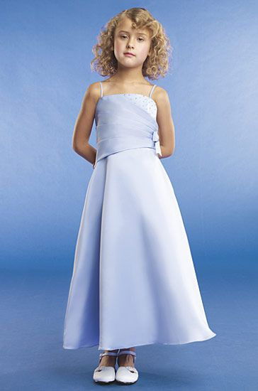 blue girls pageant dress