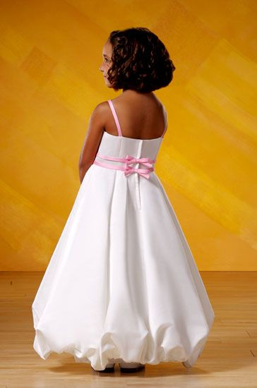 Bubble Hem Flower Girl Dress