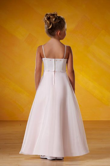 ivory floor length girls dresses