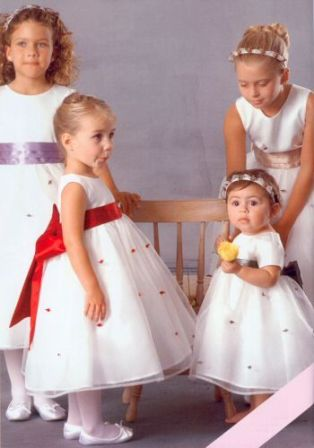 flower girl dress red sash