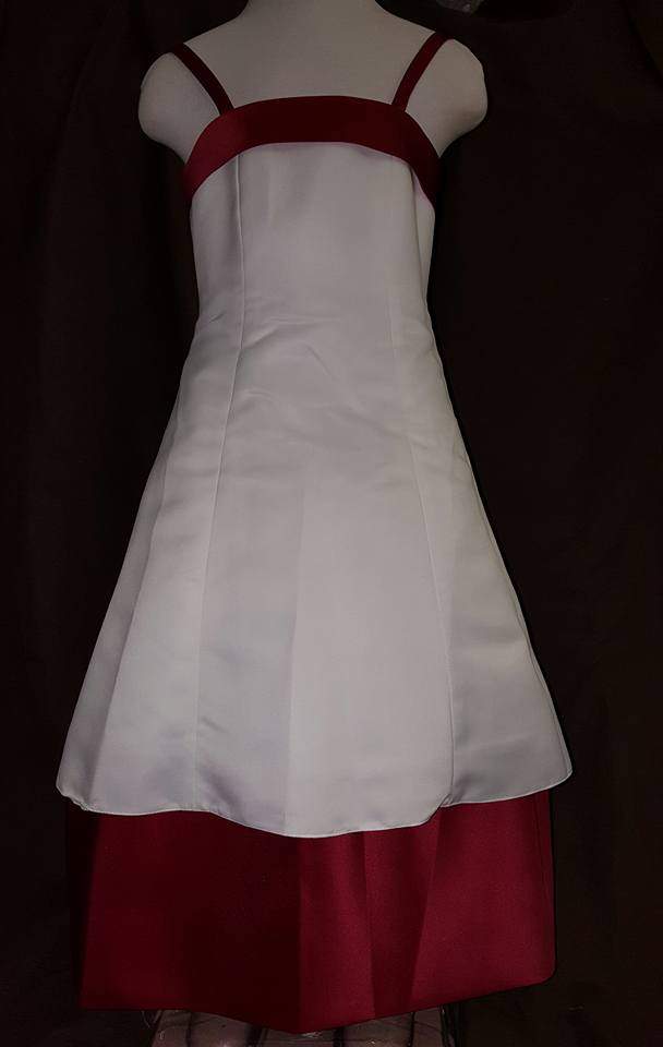 ivory and burgundy size 2 dress