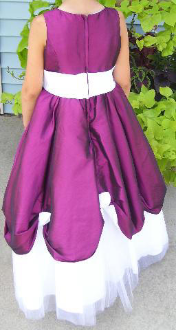 azalea flower girl dress  is ruched with roses