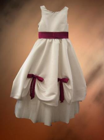 Merlot, Ivory, flower girl, dress