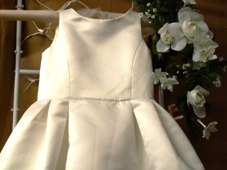pleated flower girl dress