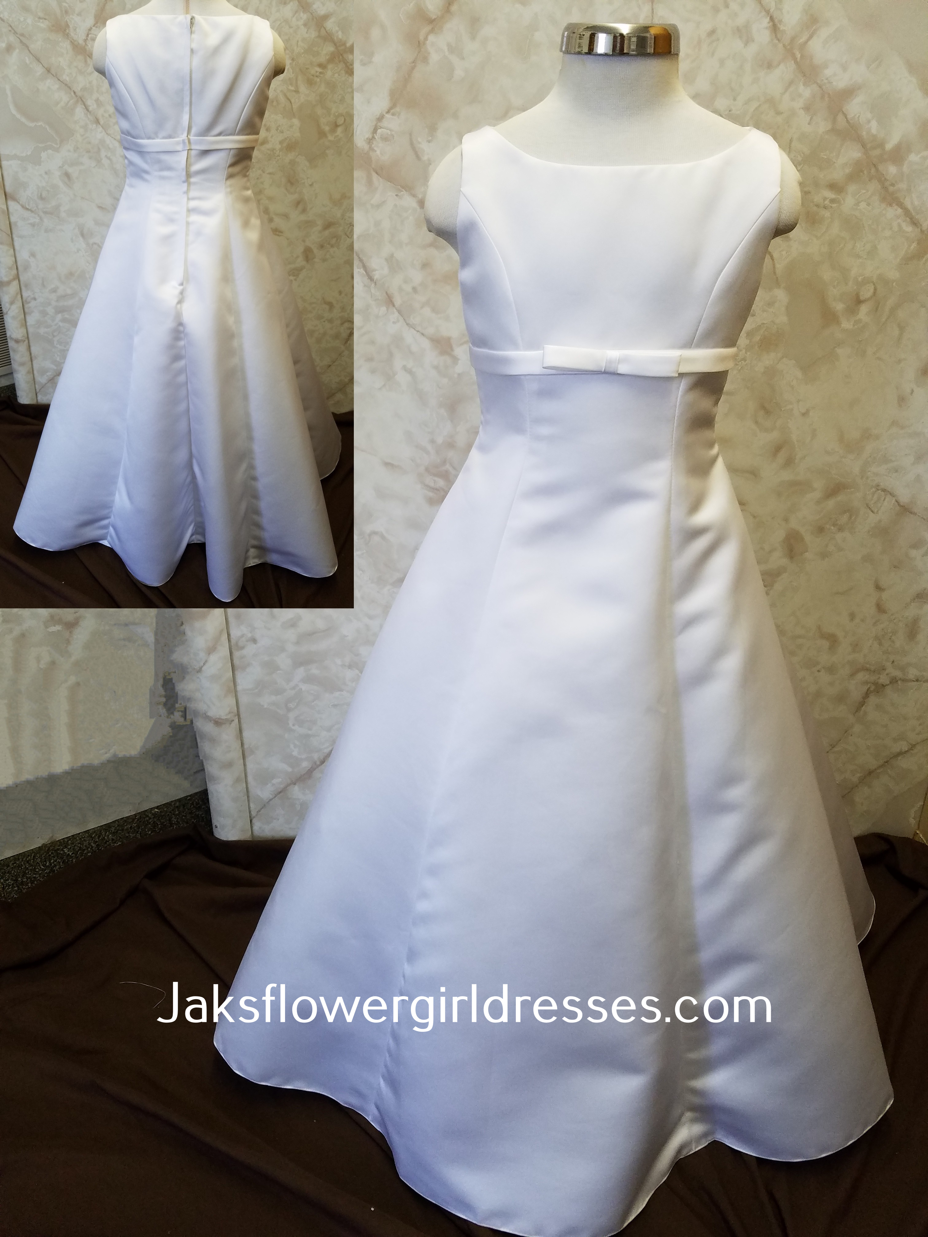 Kids long white dress