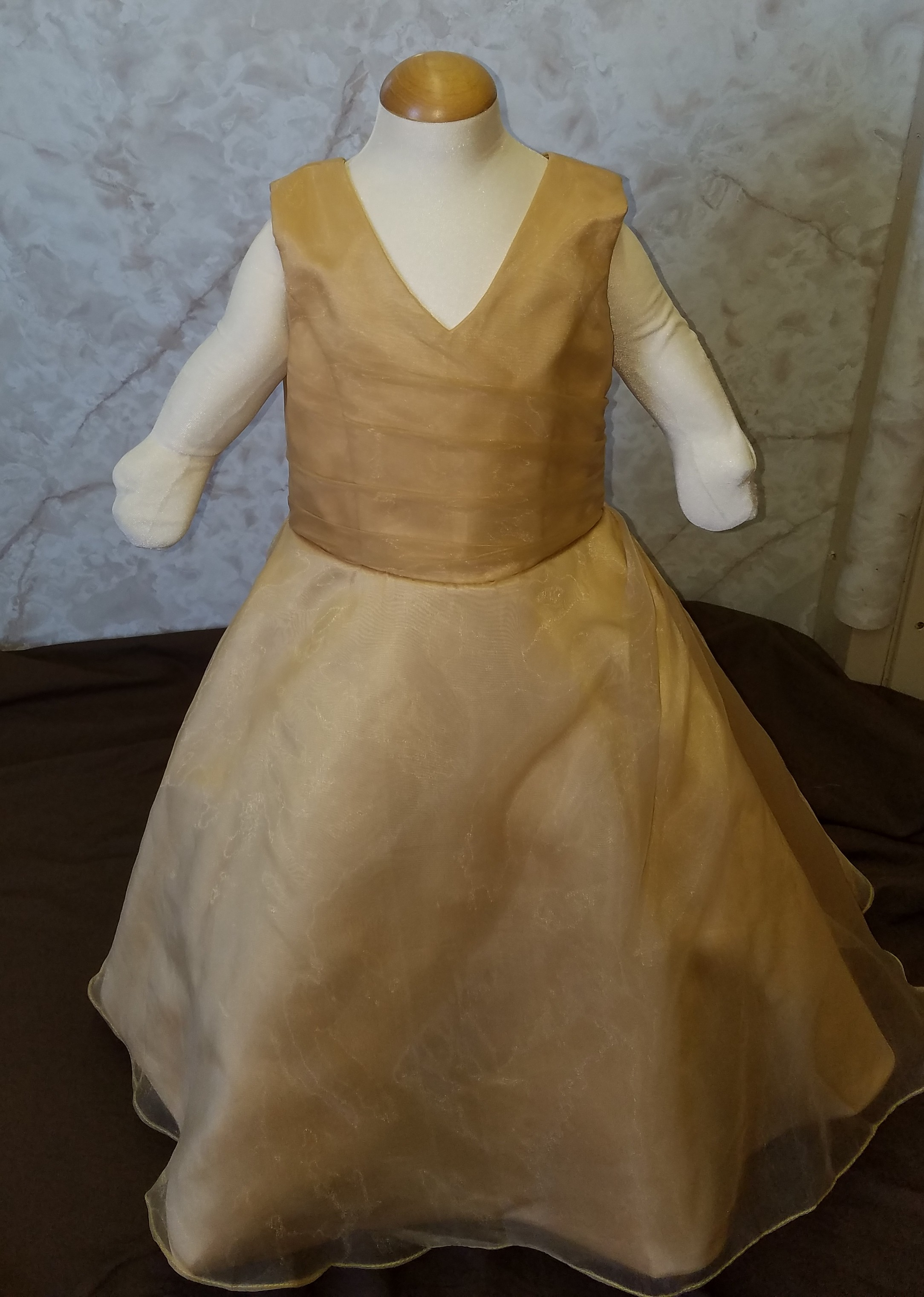 infant gold flower girl dresses