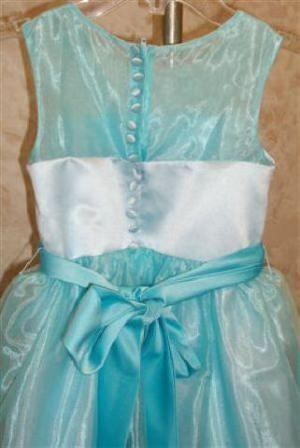 pool blue little girls formal dresses