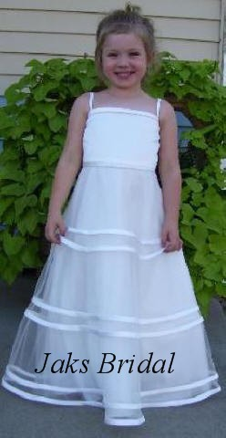 illusion flower girl dress