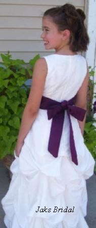 bridesmaid dress with pick up skirt