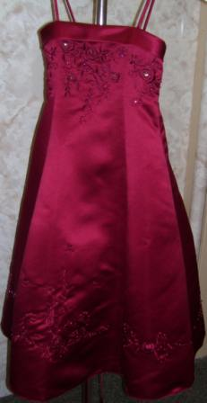 Girls Christmas Holiday Red Dress