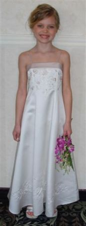 ivory dress with taupe embroidery