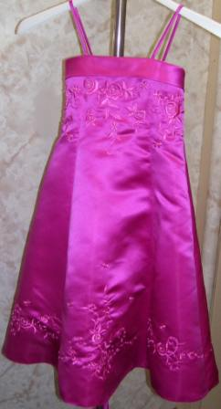 corset bridesmaid fuschia
