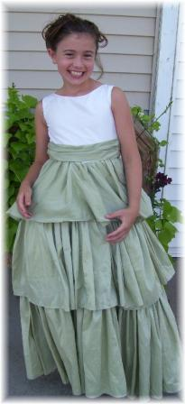Bridesmaid dresses with sage green skirt