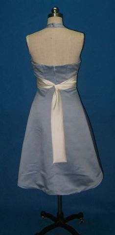 Faded Denim with light ivory sash