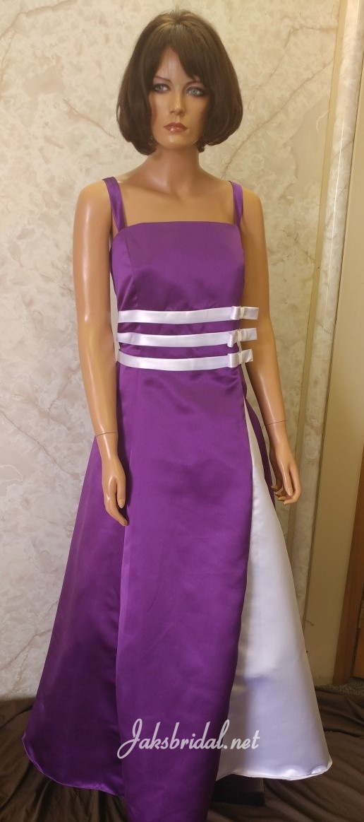 purple and white bridesmaid dress