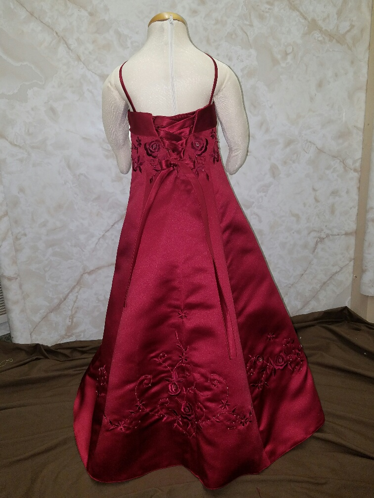 girls size 2 dress in apple red