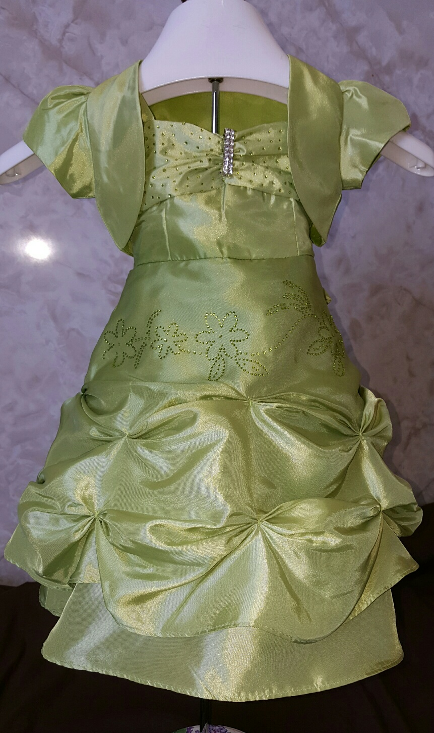 lime green baby dress