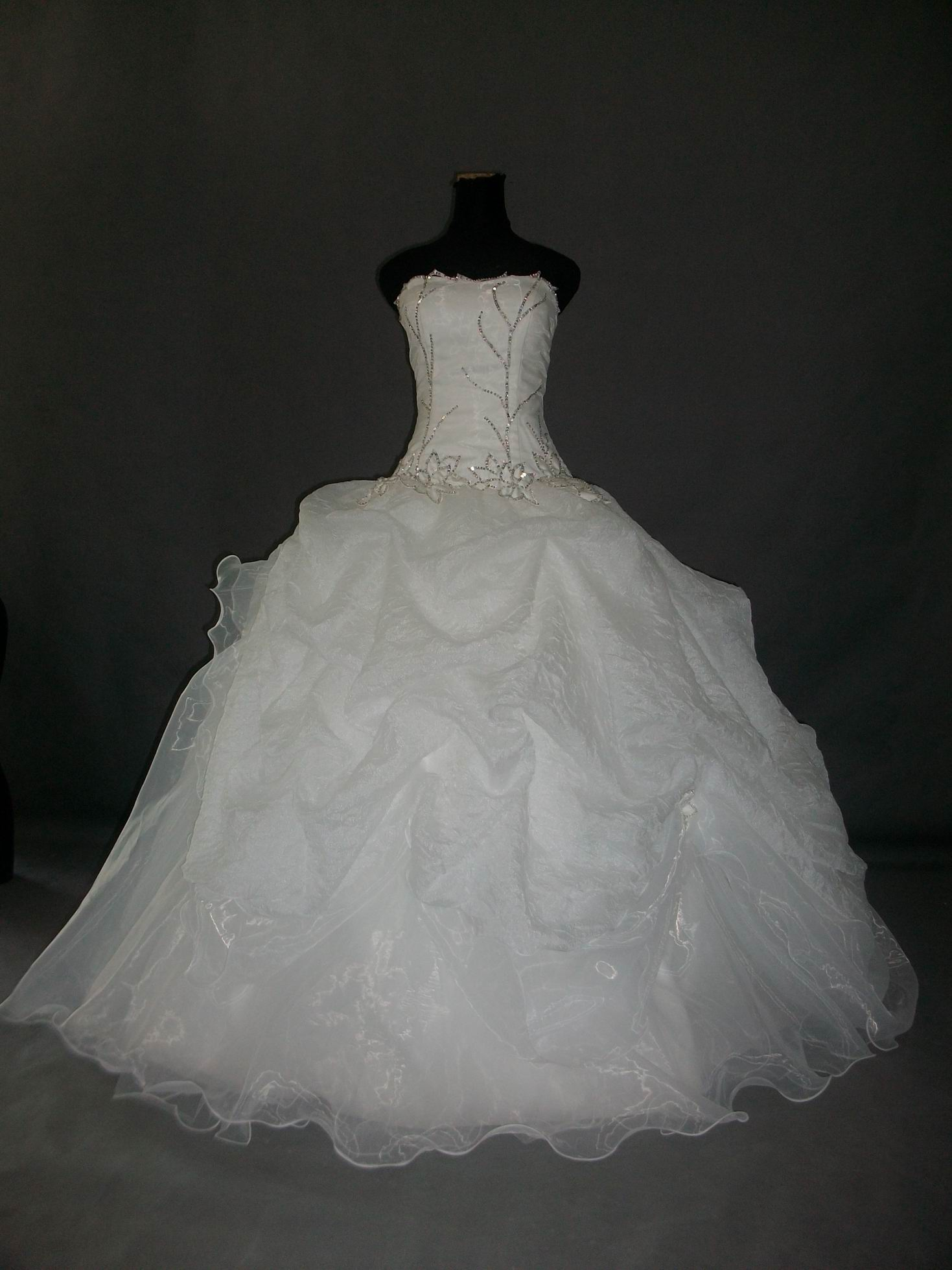 Ruched Ballroom Wedding Gown