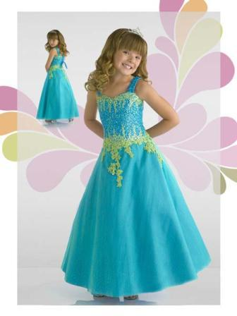 Girls sweetheart pageant gown