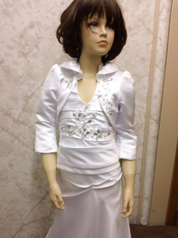 miniature wedding gown with matching jacket